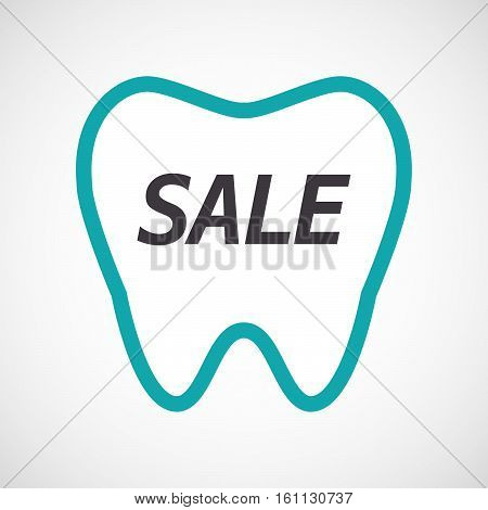 Isolated Tooth With    The Text Sale