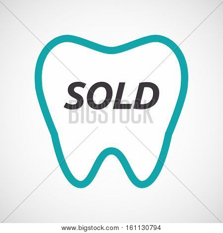Isolated Tooth With    The Text Sold