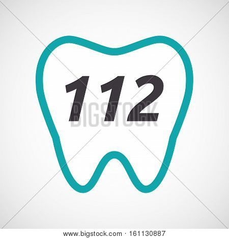 Isolated Tooth With    The Text 112