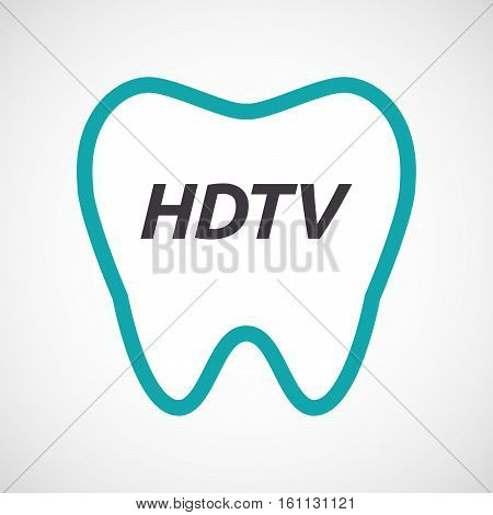 Isolated Tooth With    The Text Hdtv