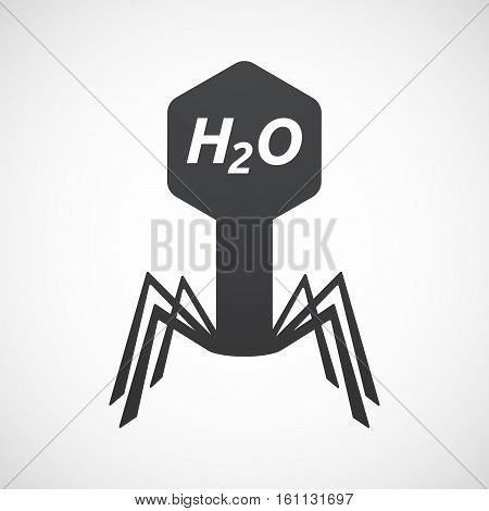 Isolated Virus With    The Text H2O