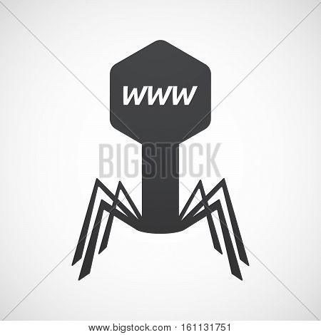 Isolated Virus With    The Text Www