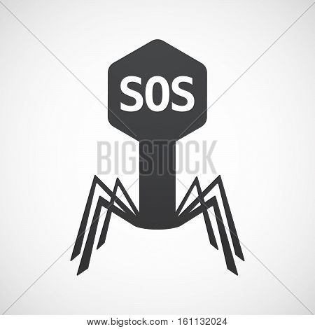 Isolated Virus With    The Text Sos