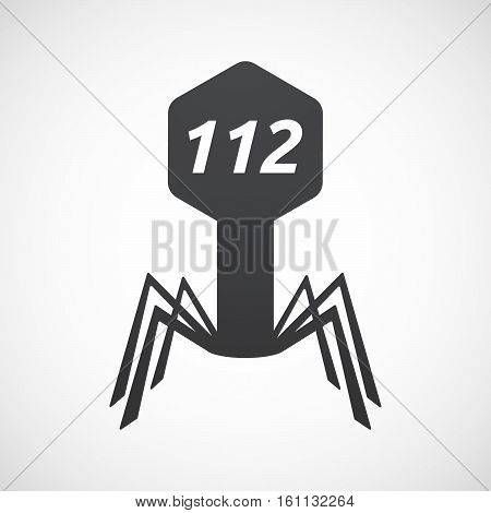 Isolated Virus With    The Text 112