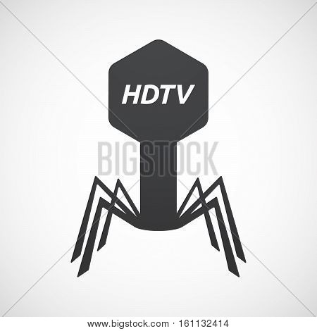 Isolated Virus With    The Text Hdtv