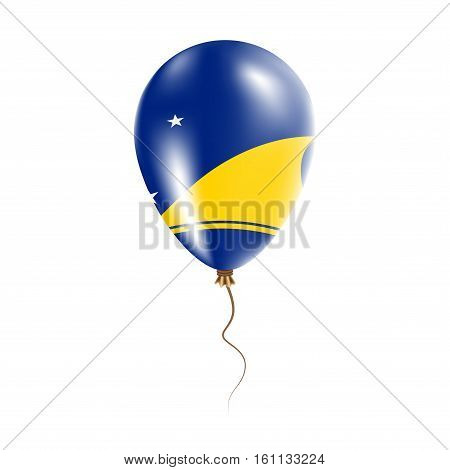 Tokelau Balloon With Flag. Bright Air Ballon In The Country National Colors. Country Flag Rubber Bal