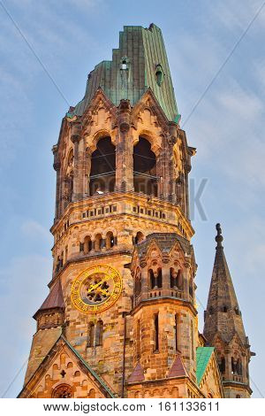 Detail of the Kaiser-Wilhelm Memorial Church in Berlin