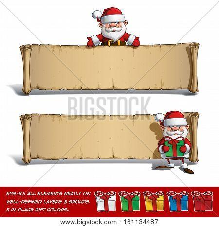 Happy Santas Papyrus - Presenting & Presents Set