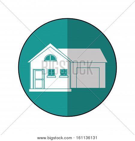 house suburban home garage shadow vector illustration eps 10