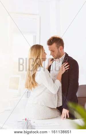 Couple Having An Affair At Work