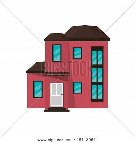 cartoon house urban expensive vector illustration eps 10