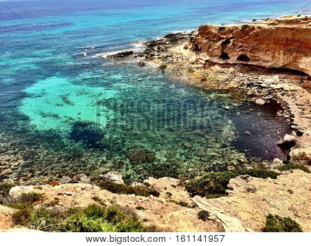 Awesome sunny day in Formentera island Spain