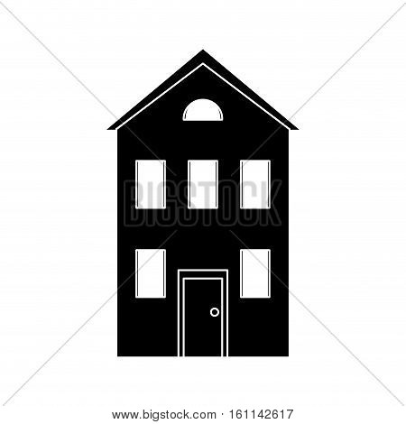 real state house two floor pictogram vector illustration eps 10