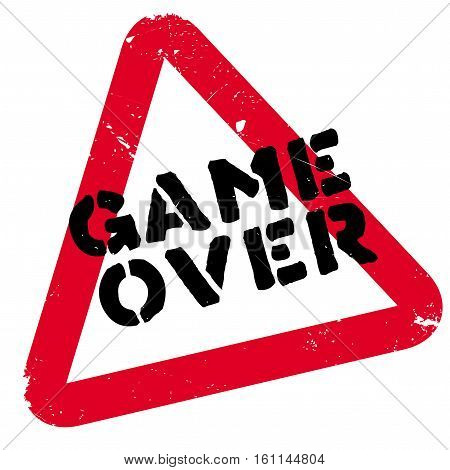 Game over rubber stamp. Grunge design with dust scratches. Effects can be easily removed for a clean, crisp look. Color is easily changed.