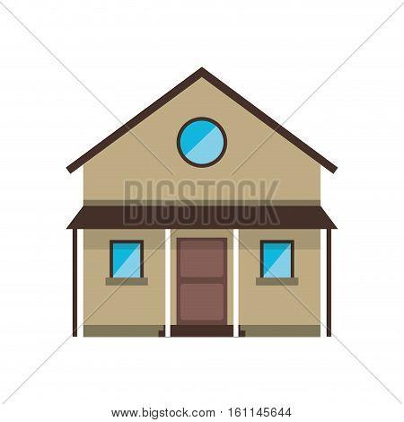 cartoon familiy house countryside vector illustration eps 10