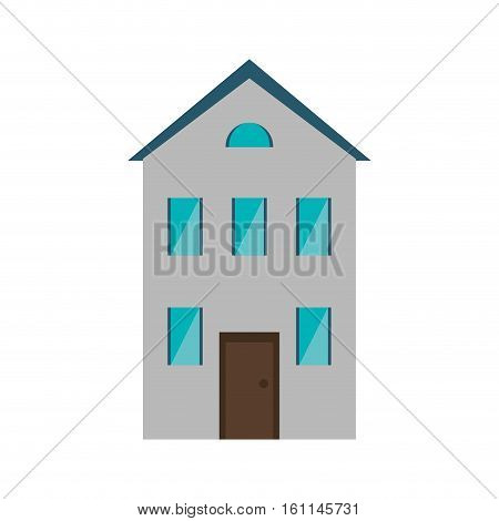 real state house new two floor vector illustration eps 10