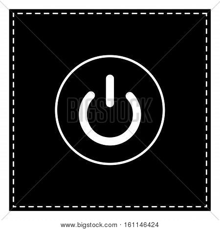 On Off Switch Sign. Black Patch On White Background. Isolated.