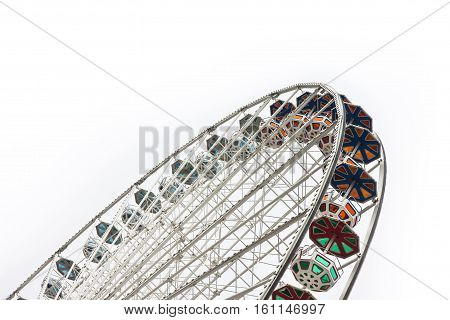New Ferris Wheel in Wien on white background