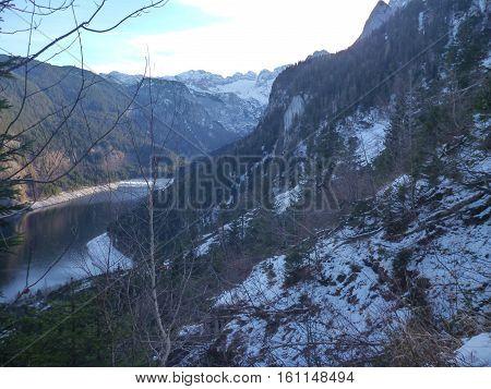 Gosausee Lake In Salzkammergut In Austria
