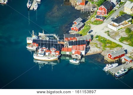 Harbour And Red Houses