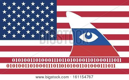 Russian Espionage against the USA. Russia spying on America through data piracy