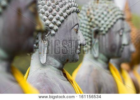 Buddha Statues in Seema Malaka Temple Colombo Sri Lanka