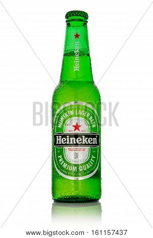 Editorial Photo Of Heineken Beer Isolated On White. Path Included