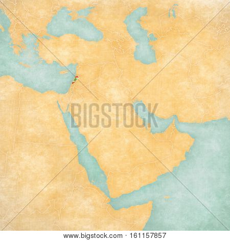 Map Of Middle East - Lebanon
