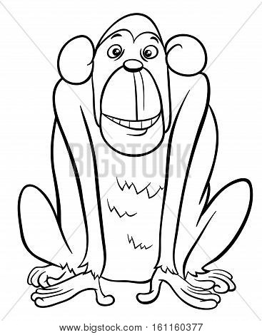 Ape Character Coloring Page
