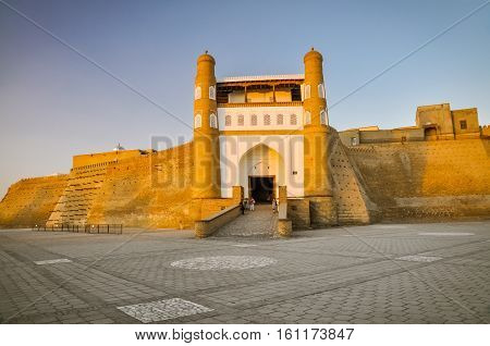 Massive Fortress In Bukhara