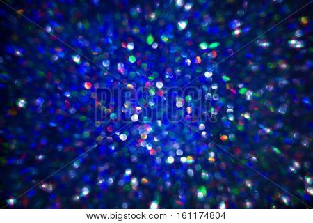 Light Background Texture Abstract Blurred Lights Blue Defocused Bokeh
