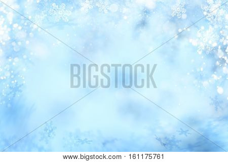 Snowflake Background Winter Snow Flake Abstract Backgrounds Decoration