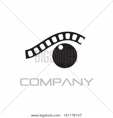 Vector sign photographer eye, isolated on white