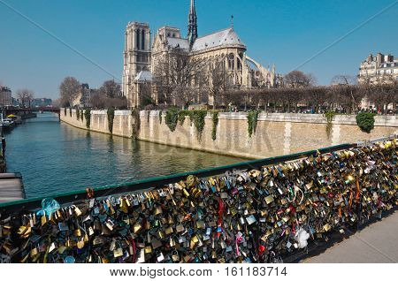 View of Notre Dame from Pont de l'Archeveche