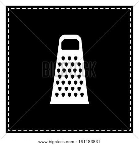 Cheese Grater Sign. Black Patch On White Background. Isolated.