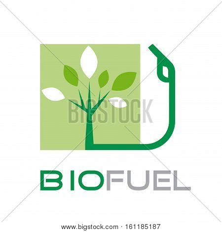Vector sign biofuel, green power, isolated illustration
