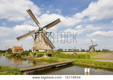 windmolens, Zevenhuizen, Nederland