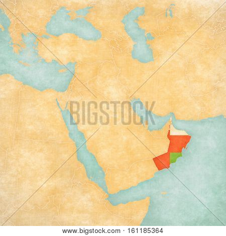 Map Of Middle East - Oman