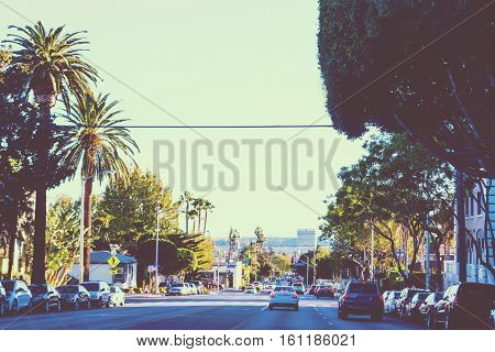 Beverly Hills in vintage tone effect California