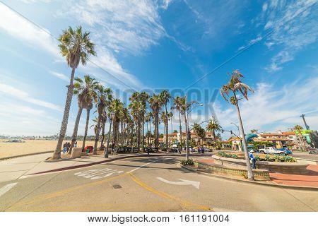 SANTA BARBARA CALIFORNIA - OCTOBER 26 2016: roundabout in Santa barbara seafront