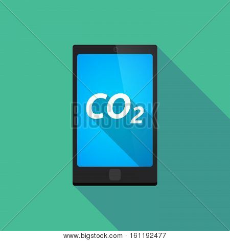 Long Shadow Smart Phone With    The Text Co2