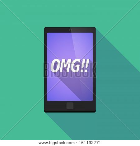Long Shadow Smart Phone With    The Text Omg!!