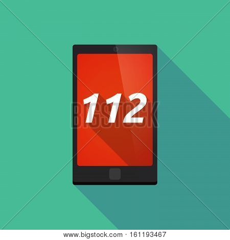 Long Shadow Smart Phone With    The Text 112