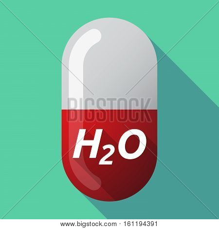 Long Shadow Medical Pill With    The Text H2O