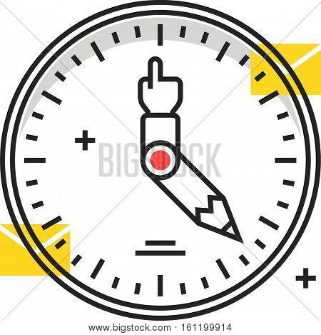 Color Box Icon, Work Hours Concept Illustration, Icon