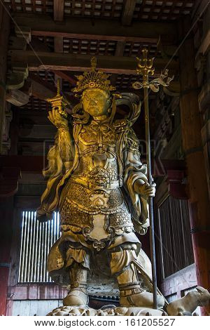 Detail from the Todaiji temple in Nara, Japan