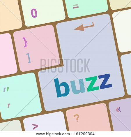 buzz word on computer keyboard key, business concept