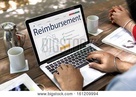 Business Work Building Reimbursement Concept