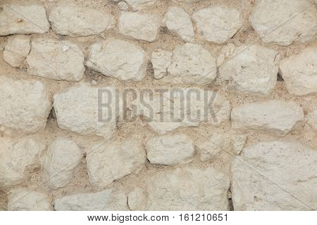 Stones Wall For Background Like Ancient Castle Or Medieval House