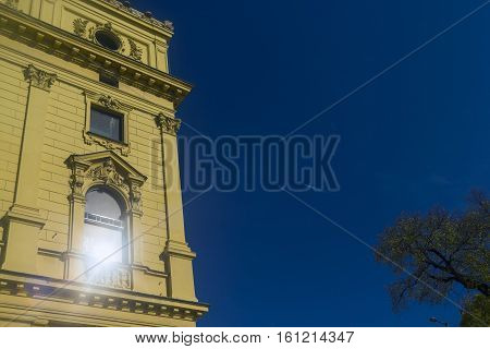 Window of the National Theatre in Szeged, Hungary